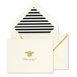 What's the Buzz 🐝 note card set. Kate Spade ♠️